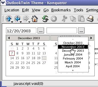 OutlookTwin theme in Konqueror 3
